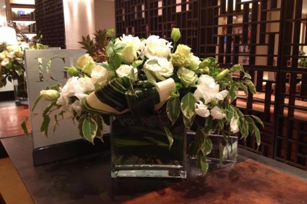 Flores para evento da Childhood Foundation