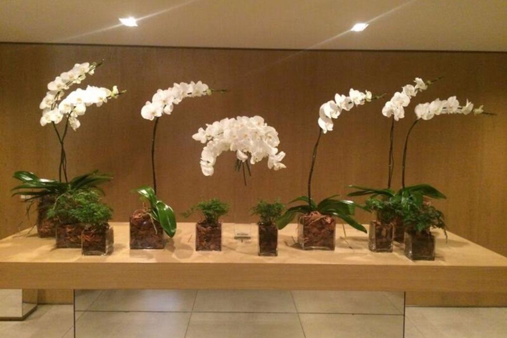 Lounge One JK mesa com flores
