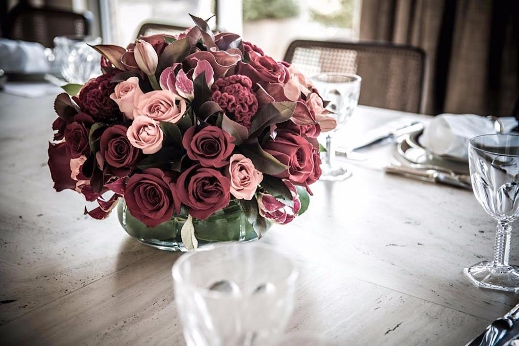 Flores rosa-chá para festas femininas