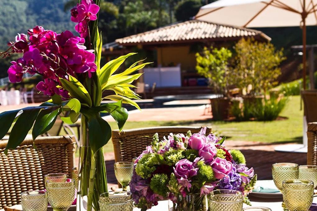 Flores para festas ao ar livre