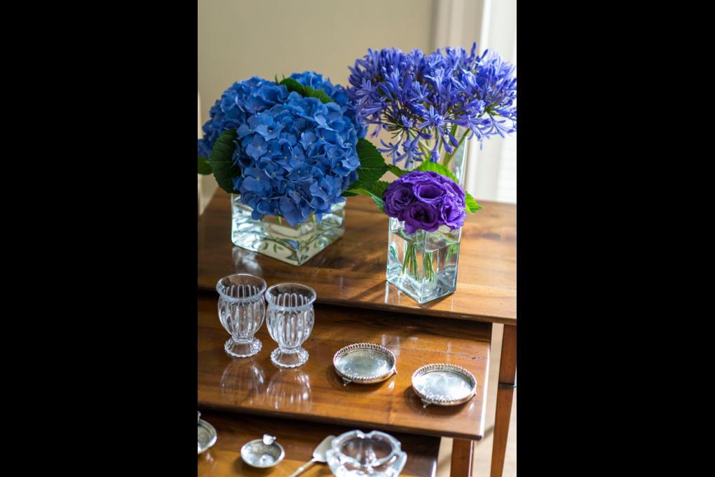 Assinaturas de flores: fase azul