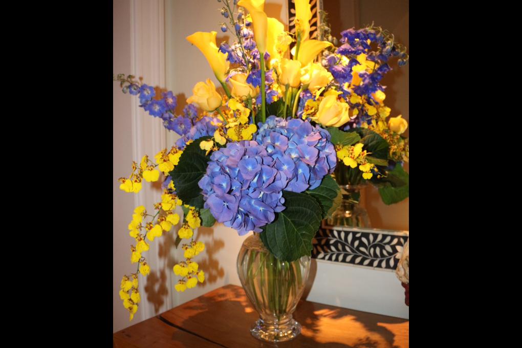Vaso de flores em noivado