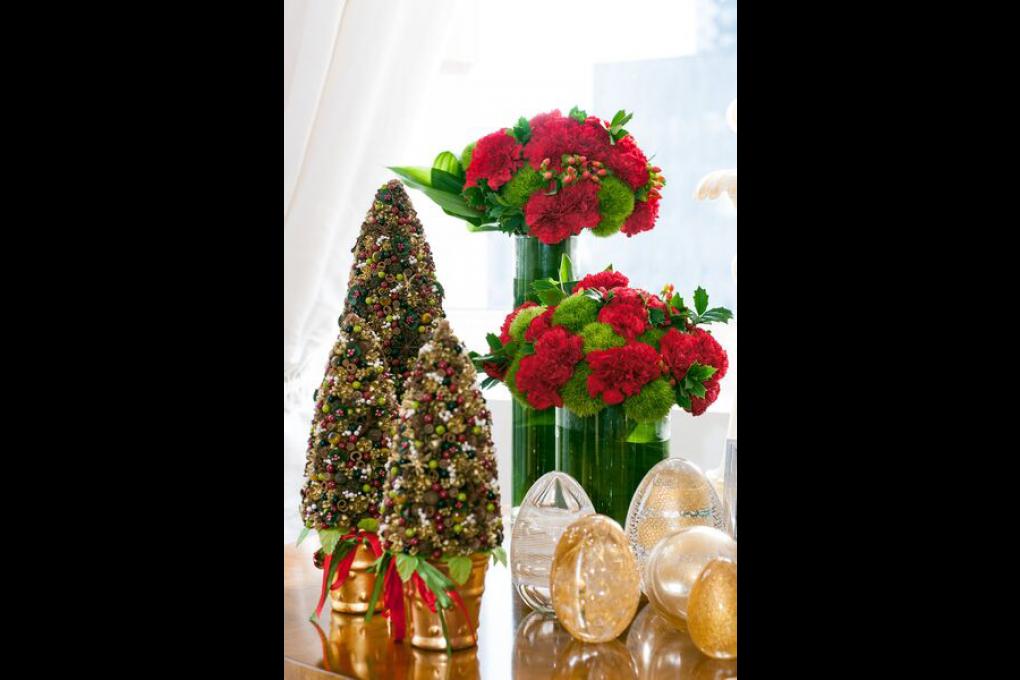 Decoração de Natal e projeto floral