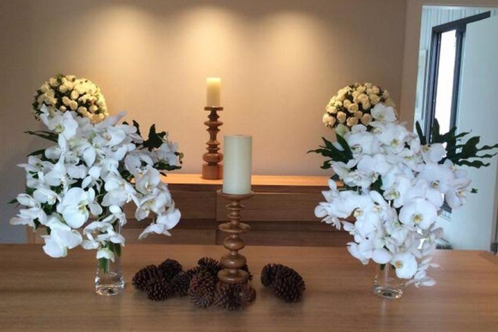 Flores para um Natal branco